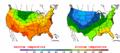 2002-09-22 Color Max-min Temperature Map NOAA.png