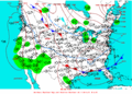2003-02-13 Surface Weather Map NOAA.png