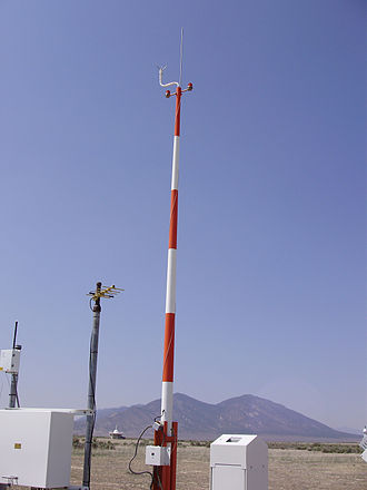 Automated airport weather station - ASOS Ice-free wind sensor