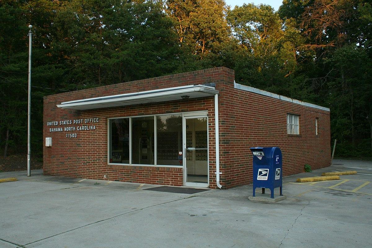 Bahama north carolina wikipedia - United states post office ...