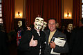 2008 09 Jason Beghe with Anonymous at Hamburg conference on Scientology 01.jpg