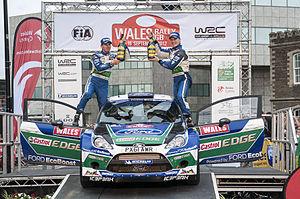 2012 Wales Rally GB - Jari-Matti Latvala during Podium