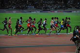 Athletics at the 2012 Summer Olympics – Men's 10,000 metres - Image: 2012 Olympics Mens 10000 m