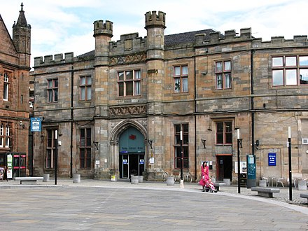 Paisley Gilmour Street railway station. 2012 at Paisley Gilmour Street station - main entrance.jpg