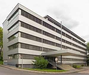 Federal Central Tax Office - Offices of the BZSt at Platanenweg 33 in Bonn.
