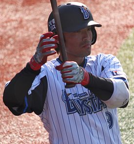 20130316 Ikki Simamura, infielder of the Yokohama DeNA BayStars, at Yokohama Stadium.JPG