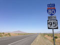 2014-06-12 12 44 04 Reassurance signs along eastbound Interstate 80 and northbound U.S. Route 95 in Rose Creek, Nevada.JPG