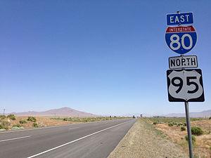 U.S. Route 95 in Nevada - I-80/US 95 concurrency near Winnemucca