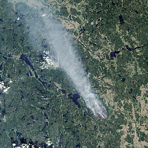 2014 Västmanland Wildfire - NASA Earth Observatory photo. August 4, 2014.