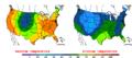 2016-04-19 Color Max-min Temperature Map NOAA.png