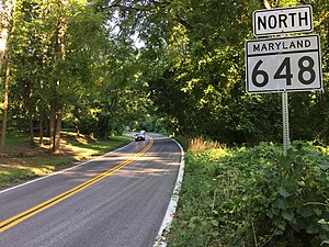 2016-08-17 07 54 41 View north along Maryland State Route 648 (Baltimore-Annapolis Boulevard) just north of Maryland State Route 2 (Governor Ritchie Highway) in Arnold, Anne Arundel County, Maryland.jpg