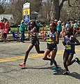 2016 Boston Marathon lead women at mile 19.jpg