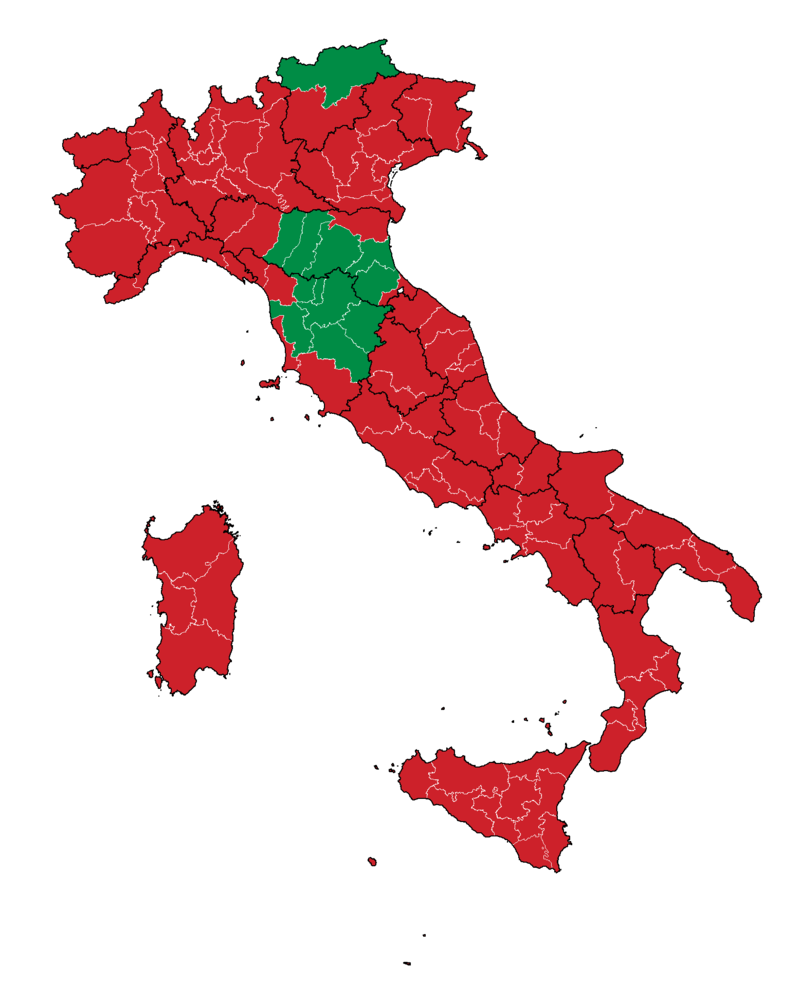 2016 Italian constitutional referendum results (provinces).png