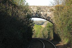 2016 at Perranwell station - road bridge.JPG