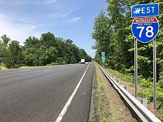 Bernards Township, New Jersey - Interstate 78 in Bernards Township