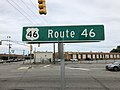 2018-07-21 14 41 18 Sign at the intersection of U.S. Route 46 and Riser Road along the border of South Hackensack Township and Little Ferry in Bergen County, New Jersey.jpg