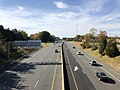 2018-10-31 14 05 44 View west along U.S. Route 50 (Arlington Boulevard) from the overpass for Virginia State Route 650 (Gallows Road) along the border of Woodburn and Merrifield in Fairfax County, Virginia.jpg
