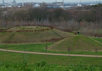 Thamesmead - View from Gallions Hill towards Gallions Reach Park
