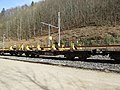 2019-03-03 (201) NÖVOG 93106 rail service vehicle at Bahnhof Schwarzenbach an der Pielach, Frankenfels, Austria.jpg