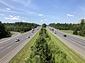 2019-07-15 11 10 50 View south along Interstate 95 from the overpass for Maryland State Route 175 (Waterloo Road-Rouse Parkway) in Columbia, Howard County, Maryland.jpg