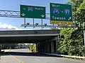 2020-06-21 17 58 56 View north along Interstate 895B (Harbor Tunnel Thruway-Ritchie Highway Connector) at the exit for Interstate 695 WEST (TO Interstate 97, Towson) in Ferndale, Anne Arundel County, Maryland.jpg