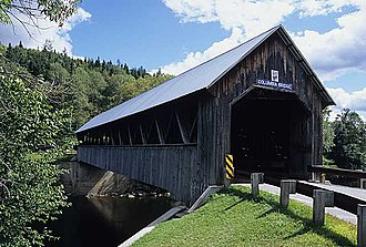 National Register of Historic Places listings in Coös County, New Hampshire - Image: 213 23 Columbia Bridge