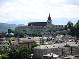 Nonnberg Abbey - Nonnberg Abbey, view from Kapuzinerberg