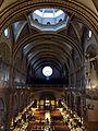 222 Basílica de Montserrat, la nau des de la cambra del tron de la Mare de Déu.JPG