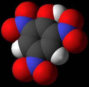 Picric acid - Image: 246trinitrophenol 3D vd W
