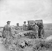 25 pounder field gun of 153rd Field Regiment 07-06-1943