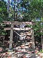 2nd torii gate of Sakamine-jinja shrine in Haramachi ward.JPG