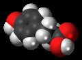 3-(4-Mercaptophenyl)propionic acid molecule spacefill.png
