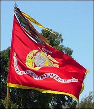 3rd Battalion, 1st Marines - 3rd Battalion 1st Marines' standard.