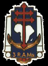 Insigne régimentaire du 3e R.A.Ma