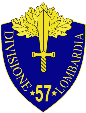 57th Infantry Division Lombardia - 57th Infantry Division Lombardia Insignia