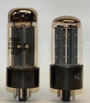 5Y3 - 5Y3GT by General Electric, circa 1960 (right) and Sovtek, circa 2005 (left)