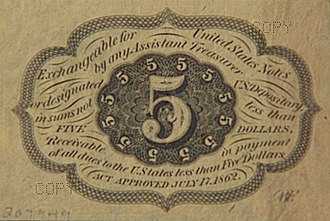 Obsolete denominations of United States currency - Image: 5cb big