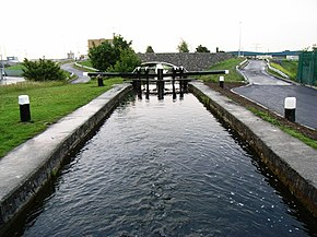 7th Lock on the Grand Canal in Bluebell, Dublin 12 - geograph.org.uk - 1371787.jpg