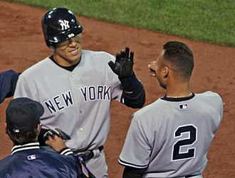 2006 New York Yankees season - Hideki Matsui (left) and Derek Jeter (right) on April 3, 2006.