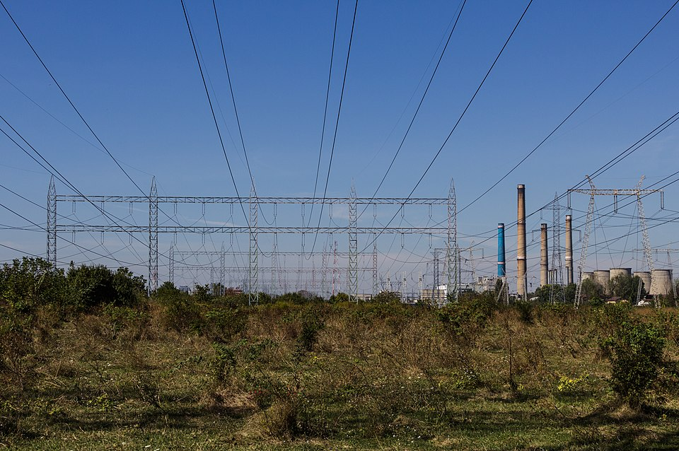 Bucharest South Power Station and Pylons