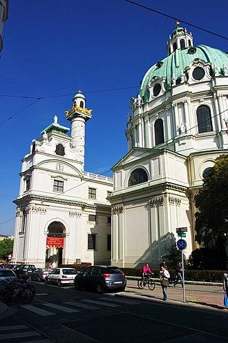 Karlskirche - Image: A Wien Karlskirche Seitenansicht