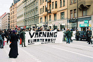 Global warming protest, Stockholm, Sweden. The...
