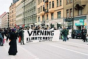 Global warming protest, Stockholm, Sweden. The...