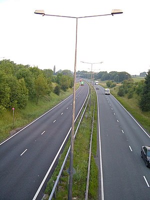 A500 road - Part of the original A500 near Audley