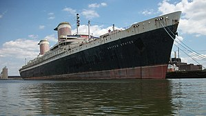 Port of Philadelphia -  The SS United States is parked at the port