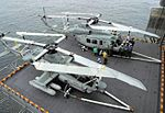 AH-1Z and UH-1Y during trials on USS Bataan (LHD-5) 2005.JPG