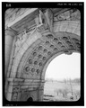 ARCH INTRADOS, SOUTHEAST, LEFT OF CENTER - National Memorial Arch, King of Prussia, Montgomery County, PA HABS PA,46-VALFO.V,1-87.tif