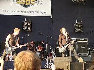 Lake of Tears - Lake of Tears during ProRock-2009 festival LTR: Fredrik Jordanius, Johan Oudhuis, Daniel Brennare