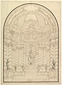 A Chapel with Figures of Statues en Grisaille of Faith, Hope and Charity and 4 Putti with Symbols of the Passion. MET DP820177.jpg