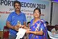 A Coach Receiving Memento after Talk on Sudden Death in Sports - SPORTSMEDCON 2019 - SSKM Hospital - Kolkata 2019-03-17 4069.JPG